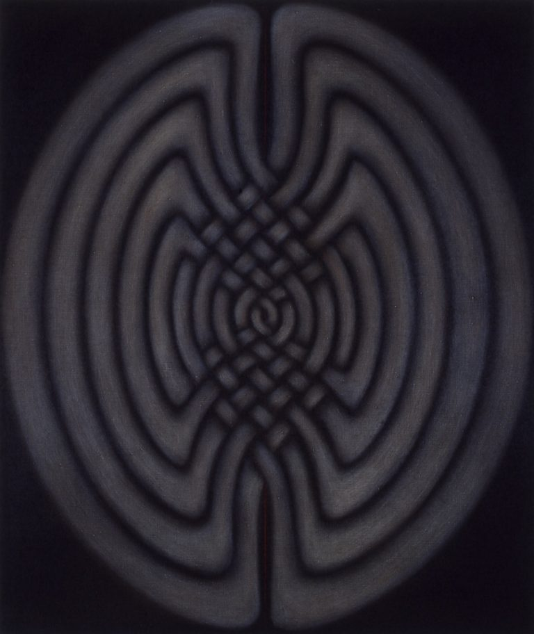 Imbol Painting: Coptic, Celtic, Kubic No. III, Marion Borgelt Archive