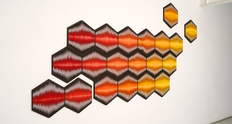 Liquid Light: Honeycomb No. 1, Heartbeat exhibition 2011
