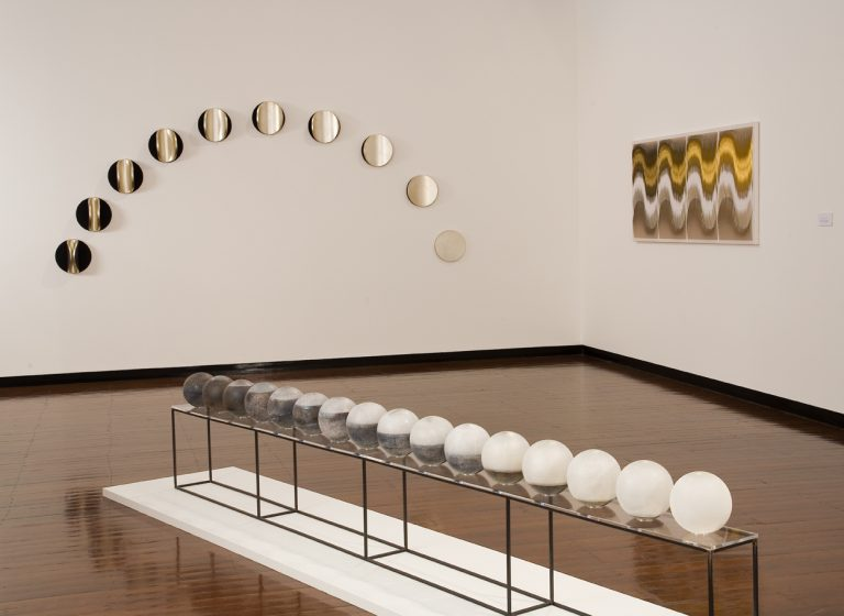 Venetian Tsukimi: No 2 (new moon to full moon) (foreground), MIND & MATTER, a 15 year survey exhibition 2010