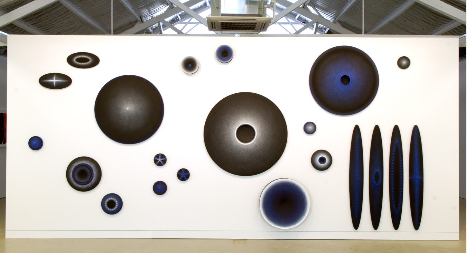 <i>Nothing is Invisible</i>; 2006 - 08; canvas, oil, pigment, sand, wood;  Dimensions variable; Installation view: Turner Galleries, Perth, Australia (Exhibition: 360 Degrees)