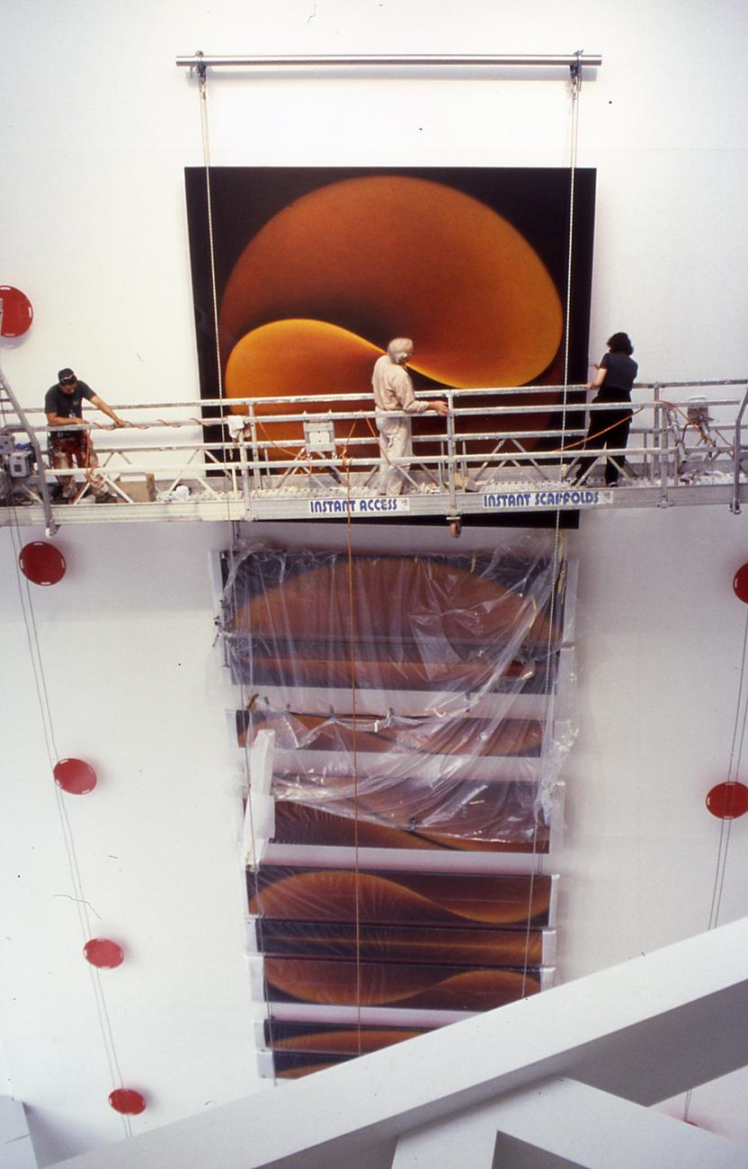 Primordial Alphabet and Rhythm, Sydney, 1998-99 – installation in progress