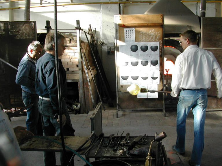 Venetian Tsukimi: work in production at Berengo Glass Studio, Murano, 2007