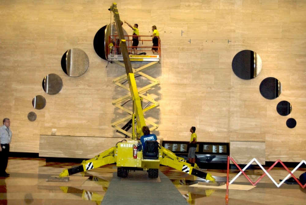 Candescent Moon, Melbourne, 2011 – installation in progress