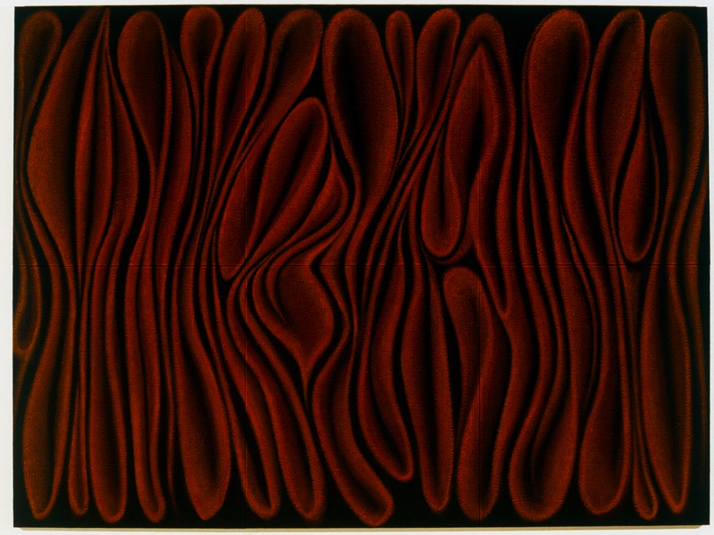 <i>Bloodlight Arabesque: No. 3</i>; 2002; oil & acrylic on jute; 180.5 x 241.5 cm