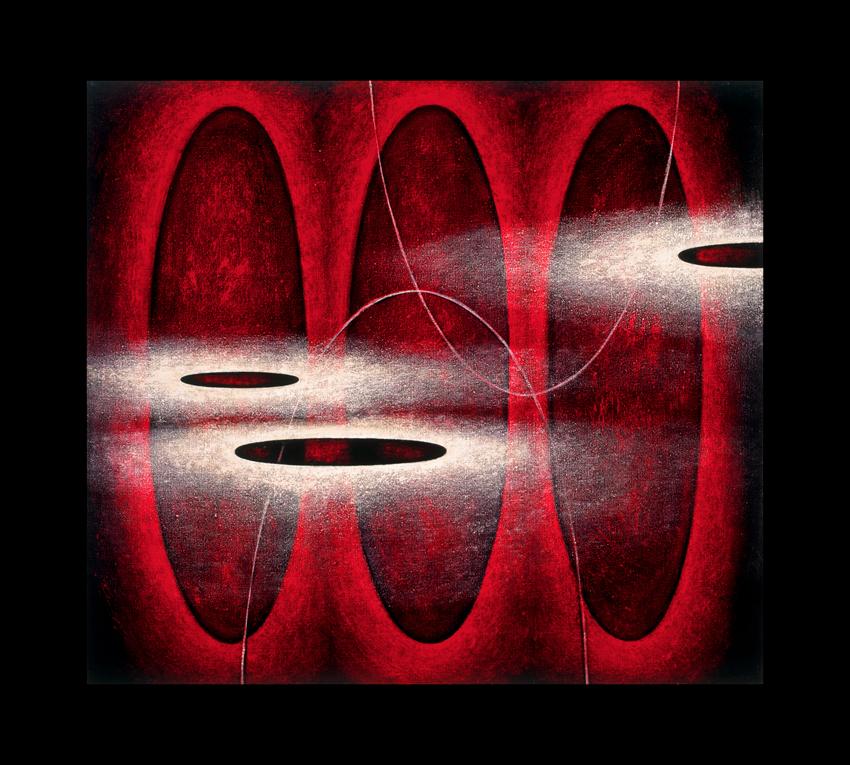 <i>Composite Void</i>; 1992;  pigment on jute;  179 x 197.5 cm