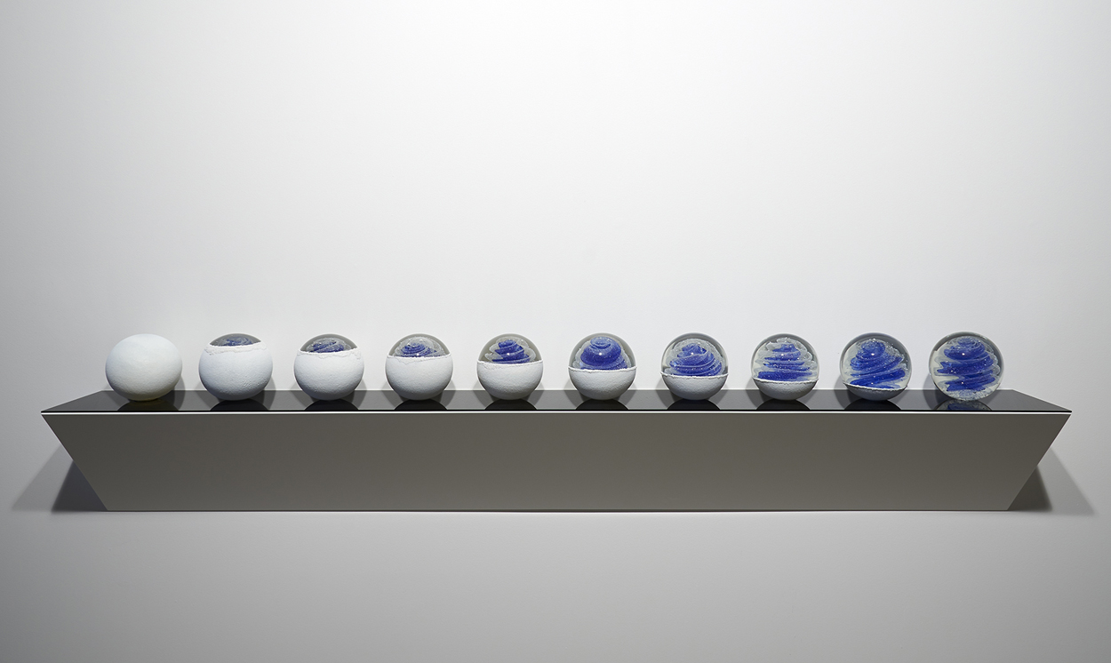 <i>Blue Moon Cascade: Suite No. 1 (10 Spheres) </i>; 2016;