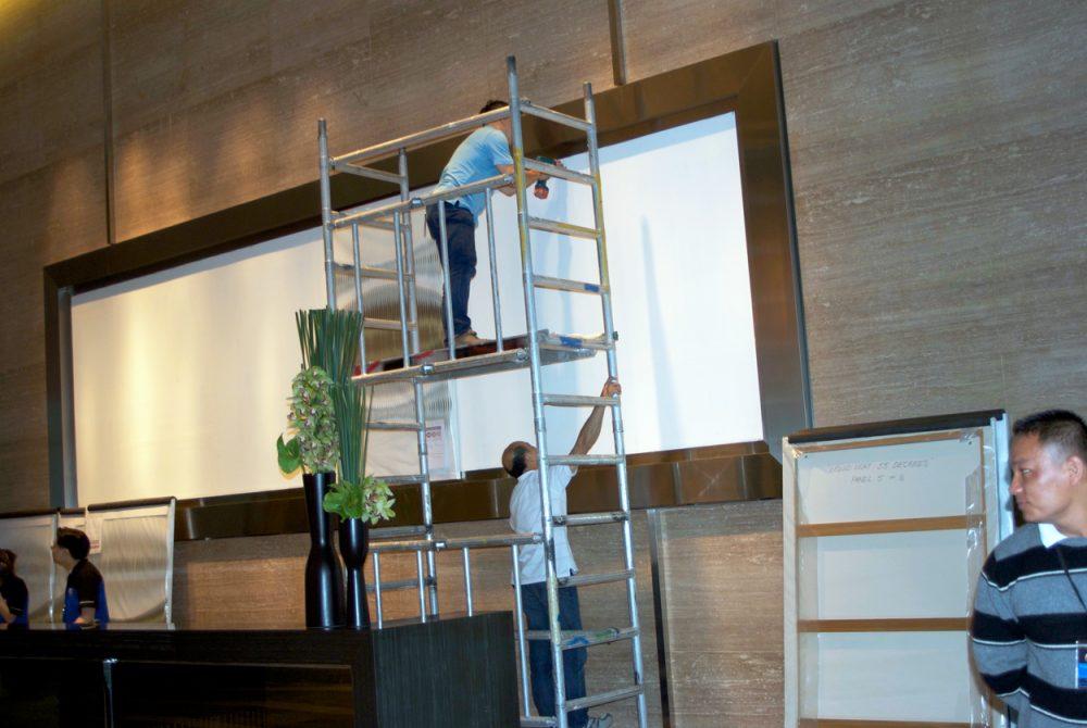 Liquid Light 56 Degrees, Macau, 2009 – installation in progress