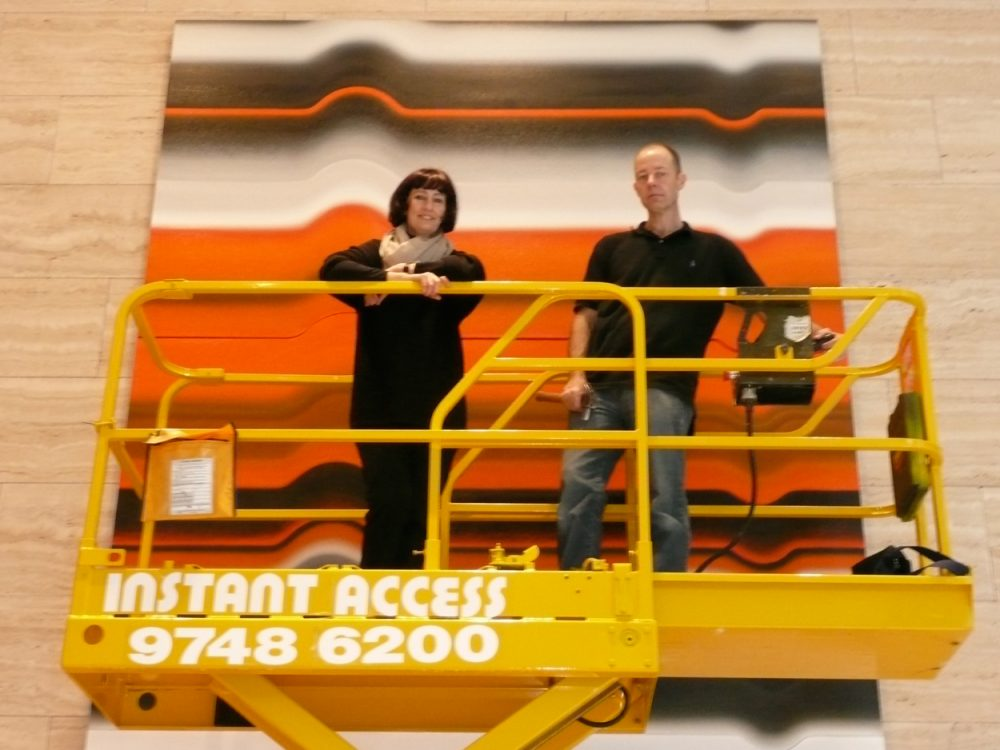 Strobe Series No. 7, North Sydney, 2008 – installation with Greg MacGuiness