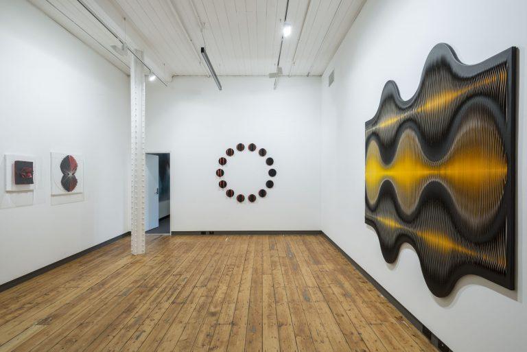 in situ at Karen Woodbury Gallery, Full Circle Red exhibition 2014