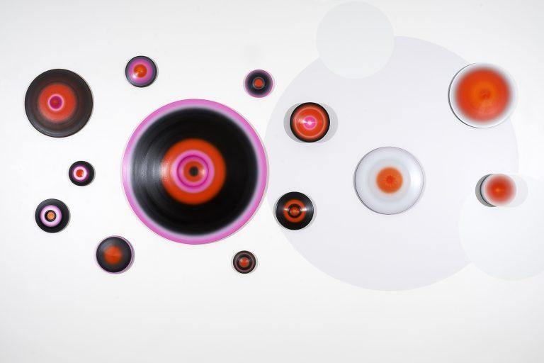 Luminous Void (partial installation View); 245 cm x 750 cm x 11 cm; oil, canvas, timber, 3D element